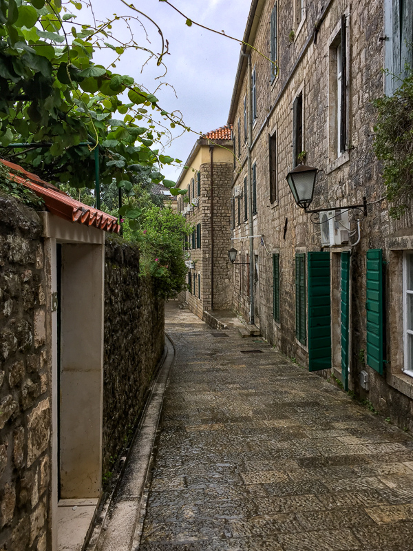 A street in Herceg Novi in Montenegro