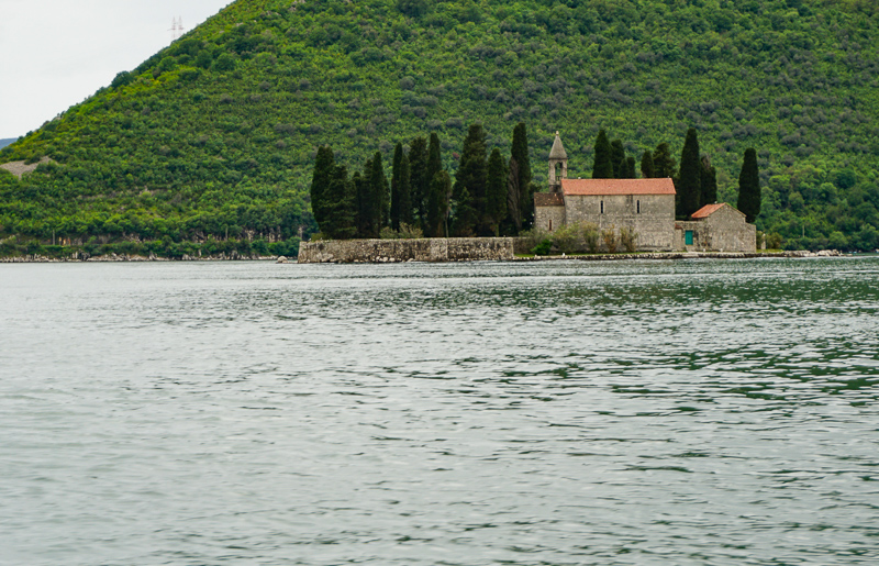 Island of St. George Bay of Kotor Montenegro
