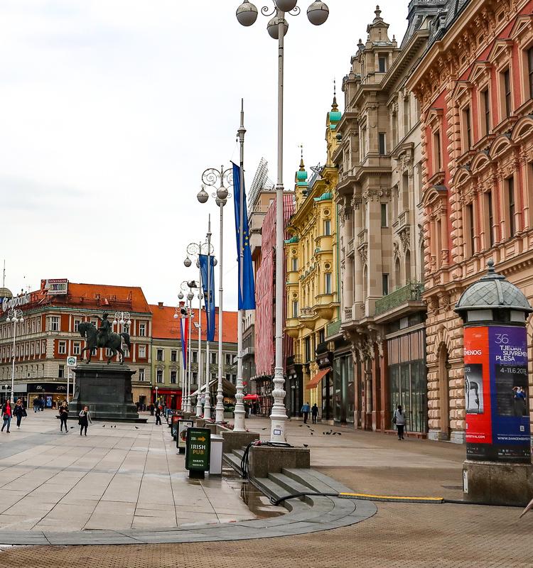 Jelacic Square Zagreb Croatia