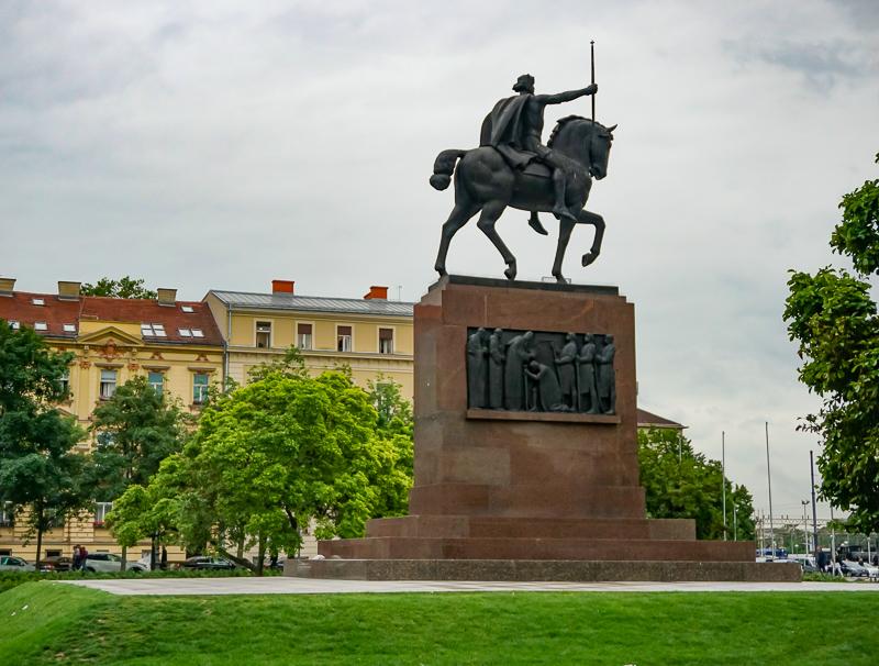 King Tomislav Statue Zagreb Croatia