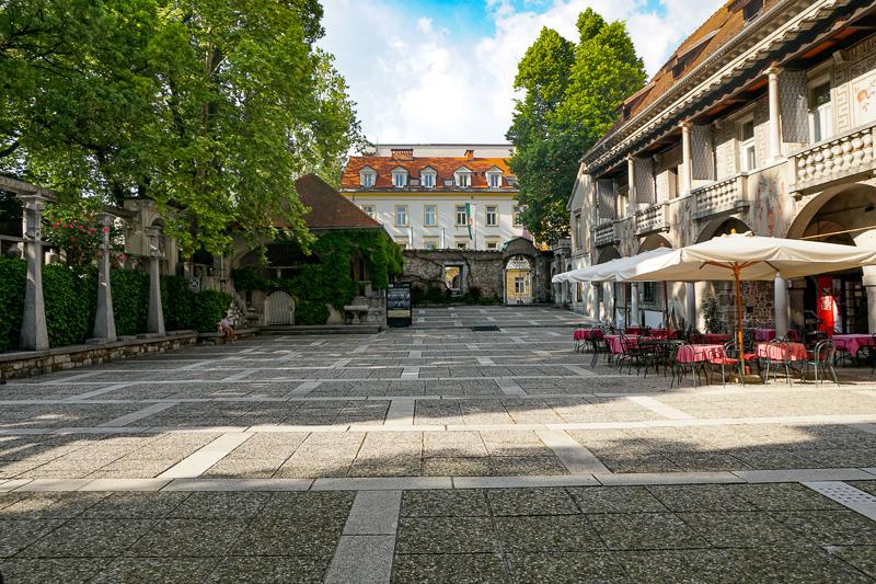 Krizanke Courtyard Ljubljana Slovenia