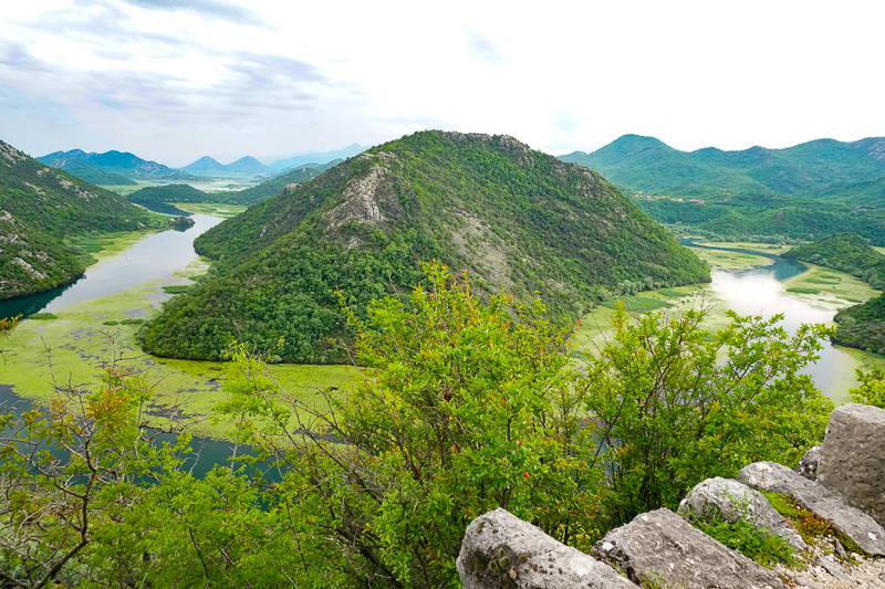 Lake Skadar from the Pavlova Strana viewpoint in Montenegro