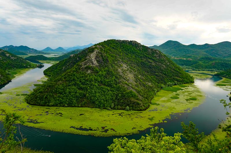 Lake Skadar from Pavlova Strana Montenegro