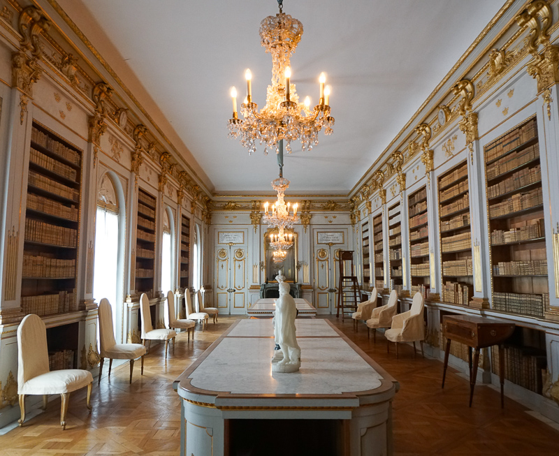 Library Drottningholm Palace Sweden