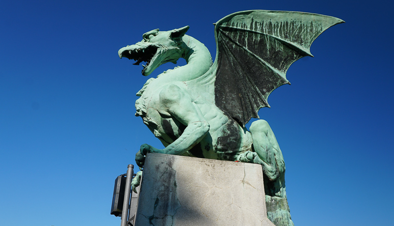 Photographing the Ljubljana Dragon is one of the most fun things to do in Ljubljana!