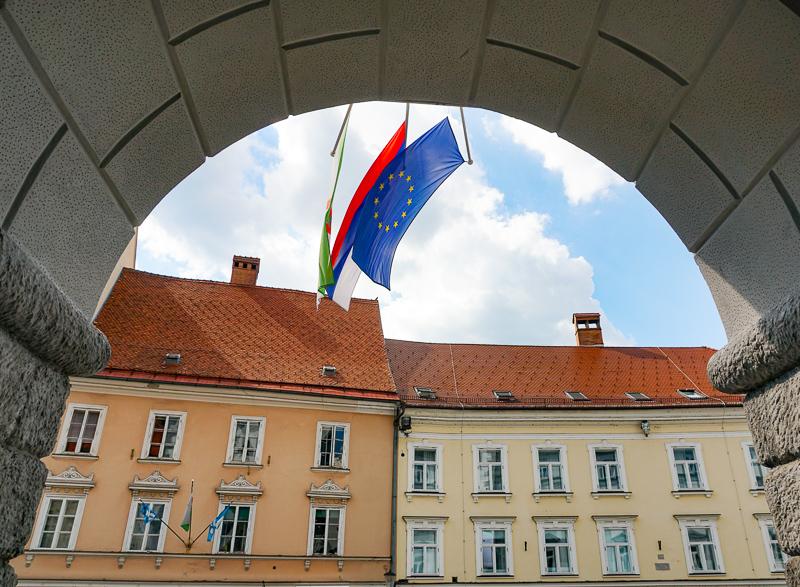 Town Hall in Ljubljana Slovenia