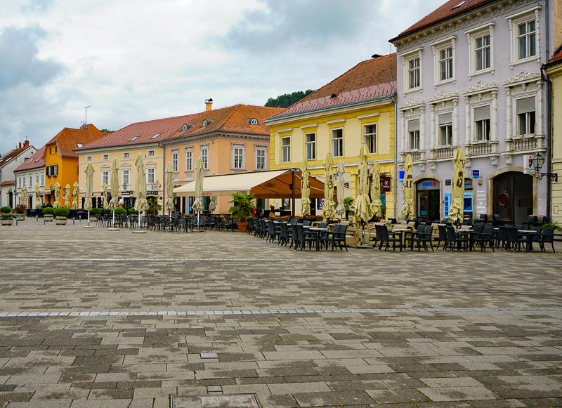 Main Square in Samobor Croatia