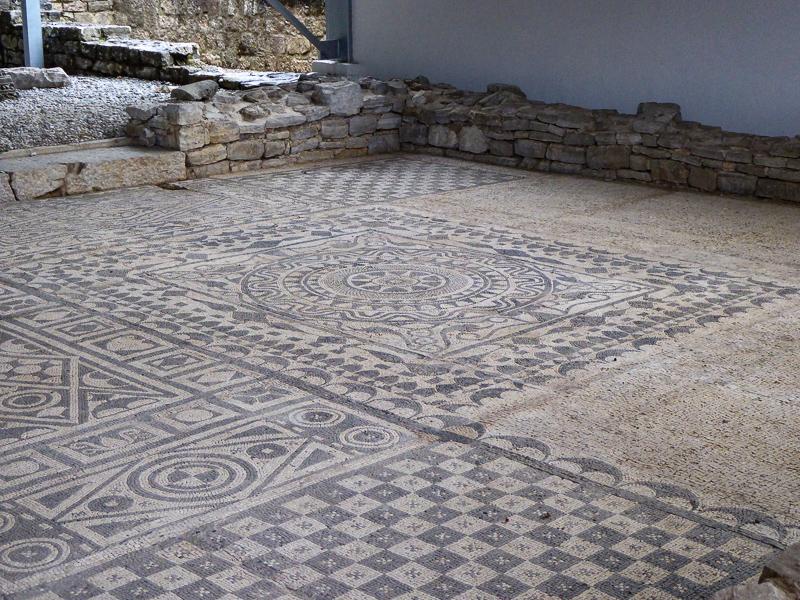 Mosaics in Risan, Montenegro