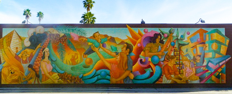Mural by David Garcia in Indio California