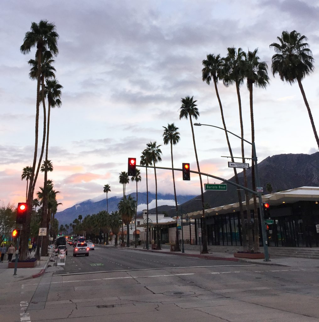 Palm Canyon Boulevard at Twilight