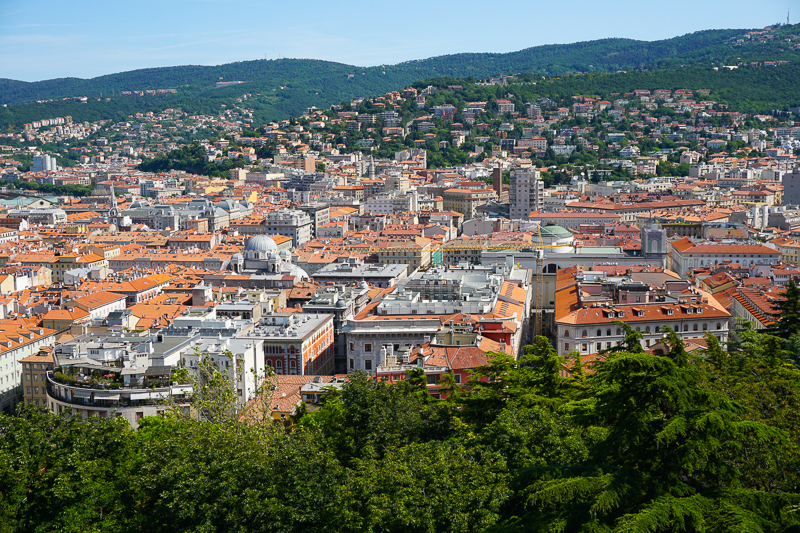 Panoramic View of Trieste, Italy