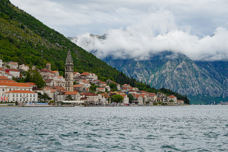 Perast from the Bay of Kotor Montenegro