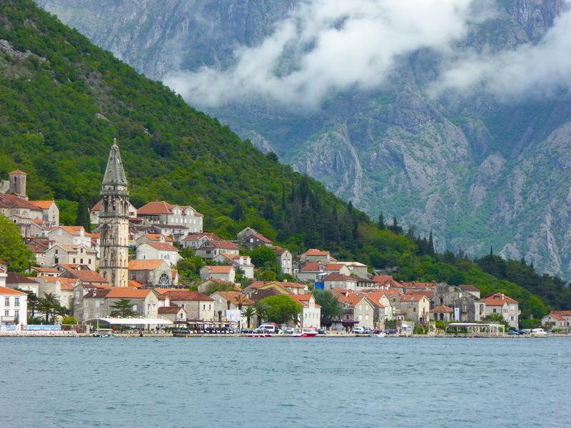 Perast on the Bay of Kotor in Montenegro
