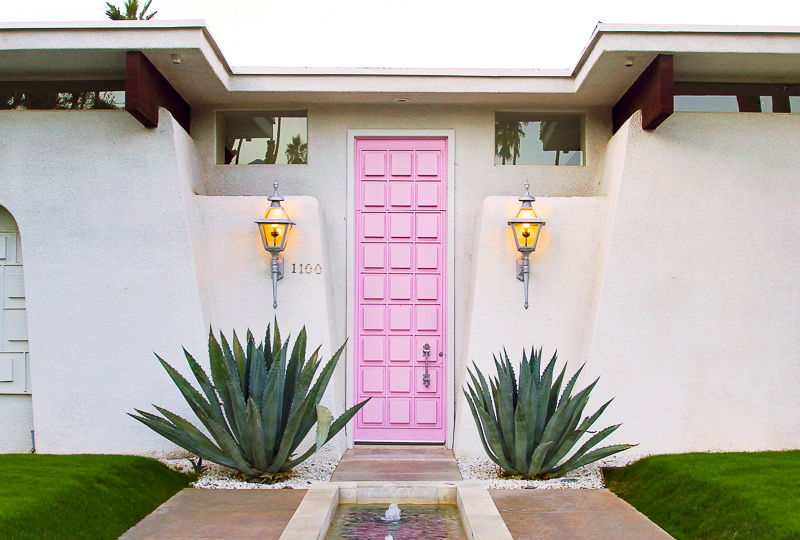 Pink Door Palm Springs California
