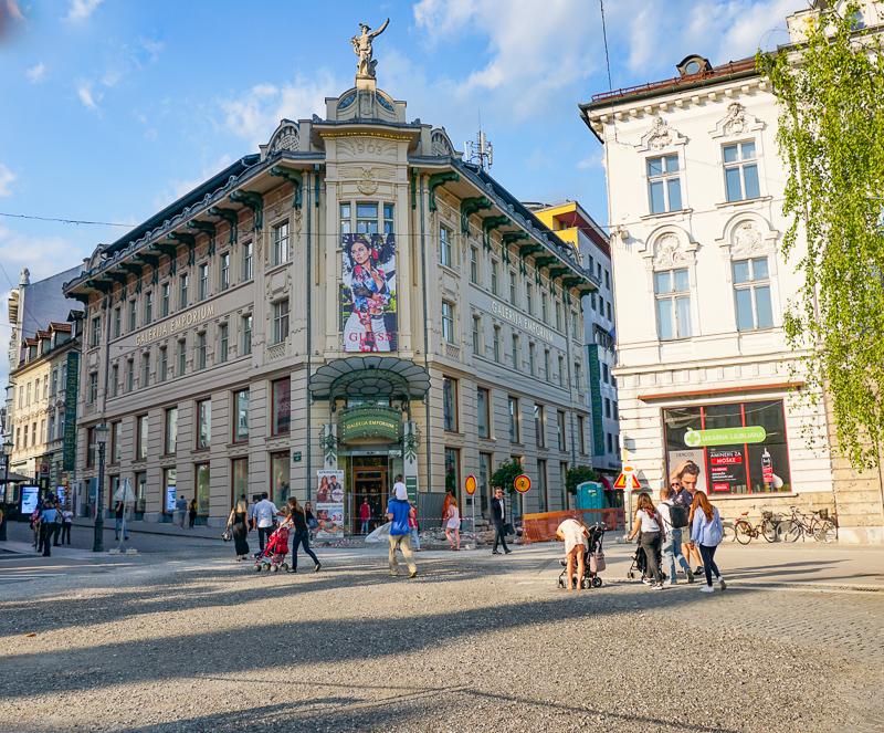 Preseren Square Ljubljana Slovenia