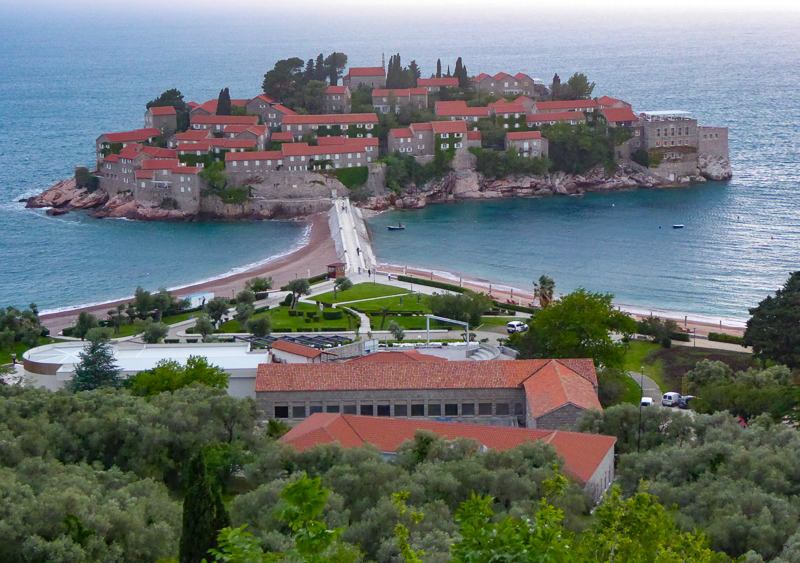 Resort on Sveti Stefan in Montenegro