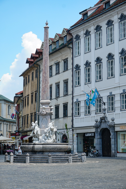 Robba Fountain Town Square Ljubljana Slovenia