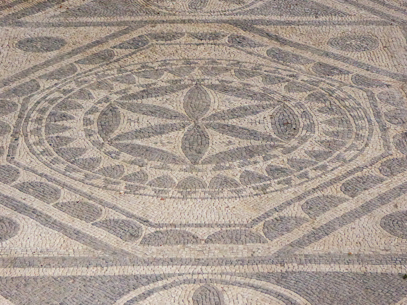Roman mosaic floor Risan Montenegro