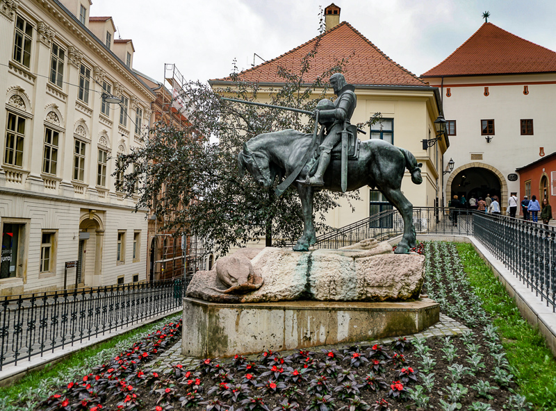 Saint George and the Dragon Statue Zagreb Croatia