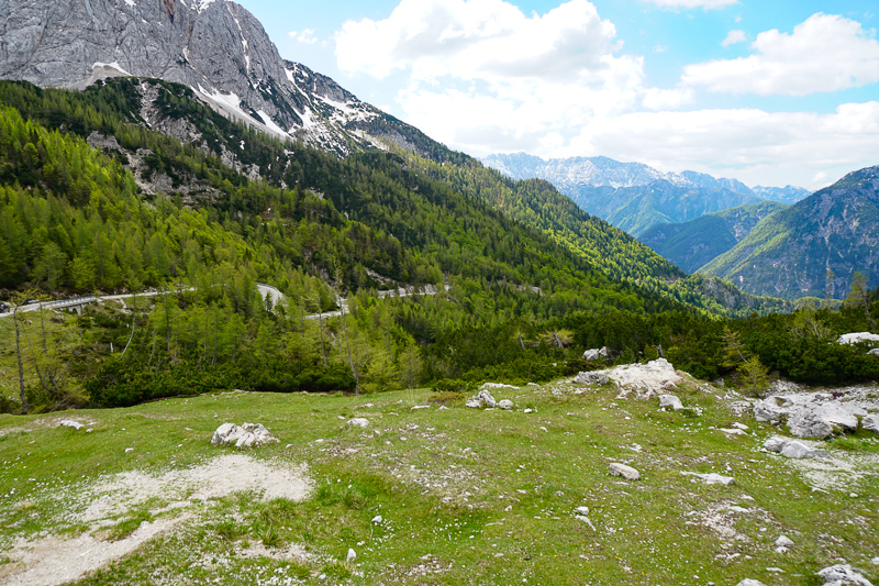 Scenery at the Vrsic Pass Slovenia