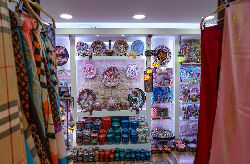 Souvenir shop in Kotor Montenegro
