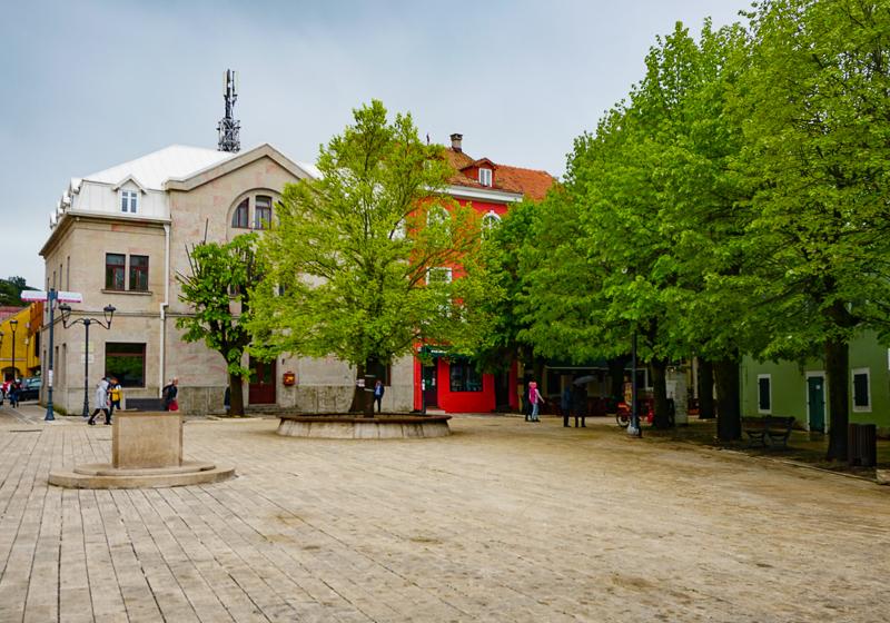 Square in Cetinje Montenegro