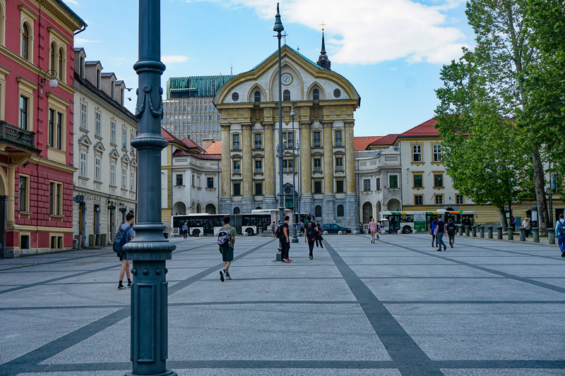 Square in Ljubljana Slovenia