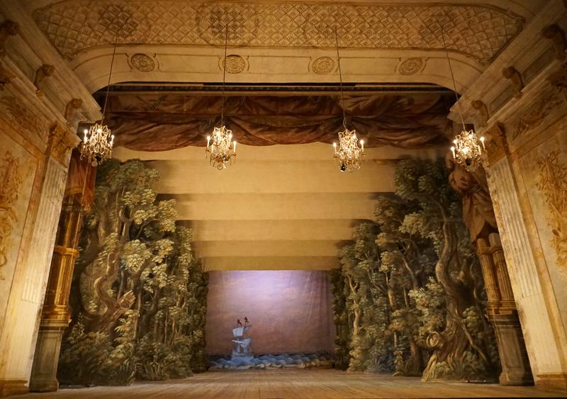 Stage Drottningholm Court Theater Stockholm Sweden