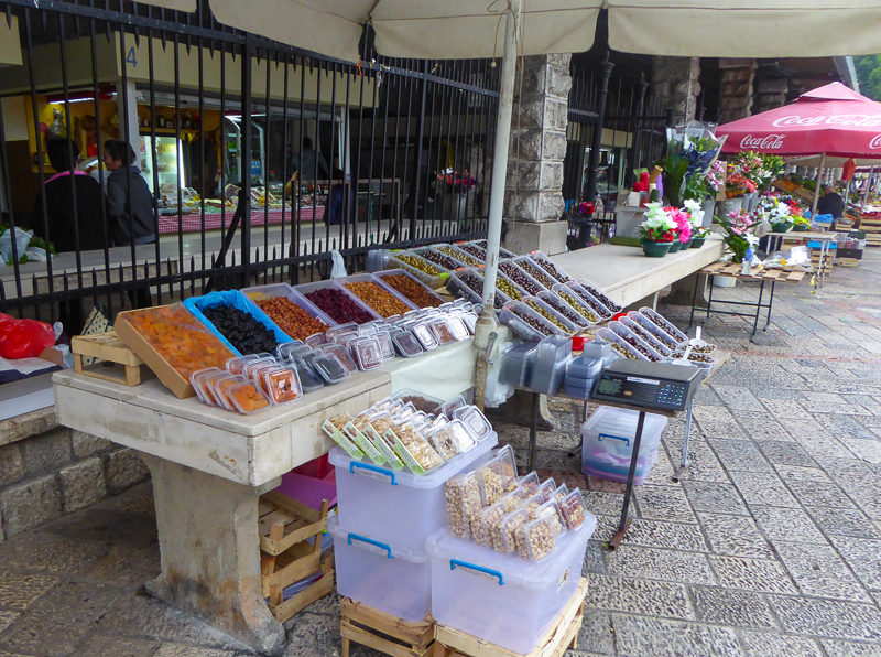 Stall at Green Market in Kotor