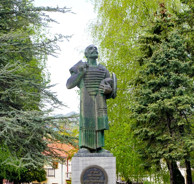 Statue of Ivan Crnojevic in Cetinje Montenegro