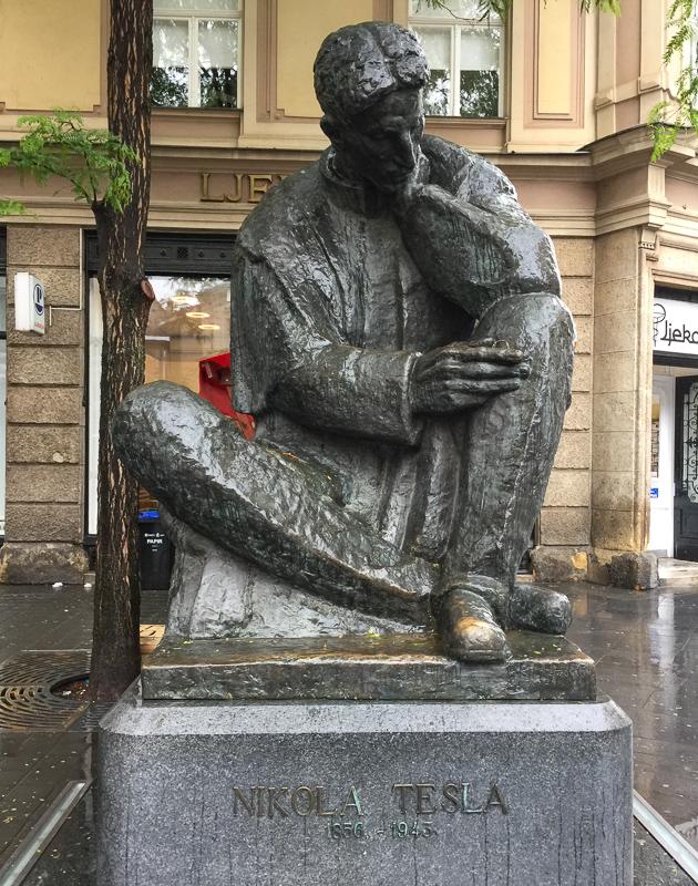 Statue of Tesla Zagreb Croatia