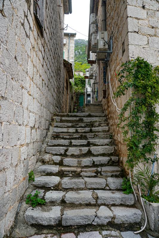 Steps Perast Montenegro