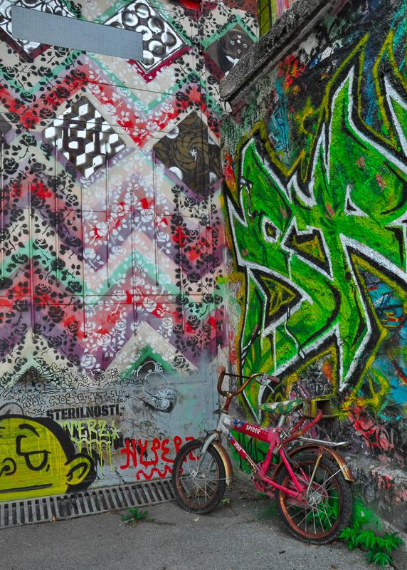 Street Art in Metelkova Ljubljana Slovenia