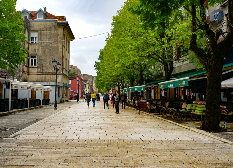 Street in Cetinje, Montenegro