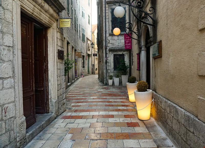 Street in Kotor Old Town, Montenegro