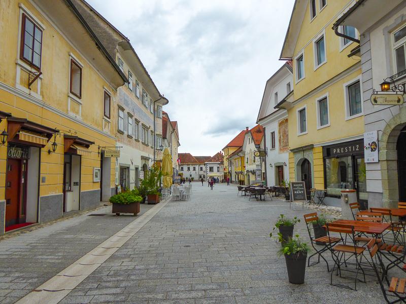 Street in Radovljica Slovenia