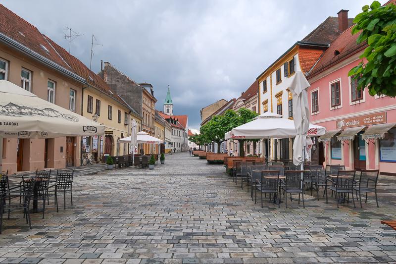 Street in Varazdin Croatia