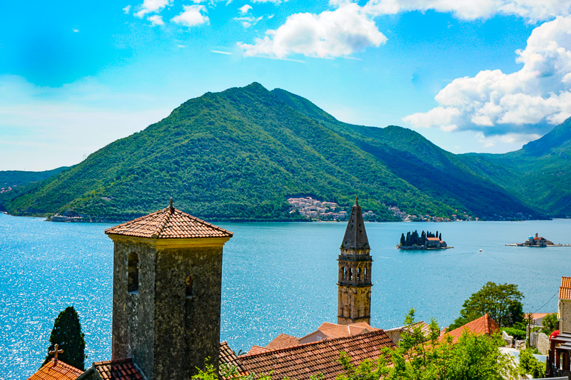 The Boka Bay at Perast in Montenegro