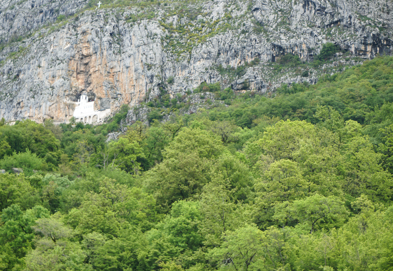 The Monastery of Ostrog in Montenegro