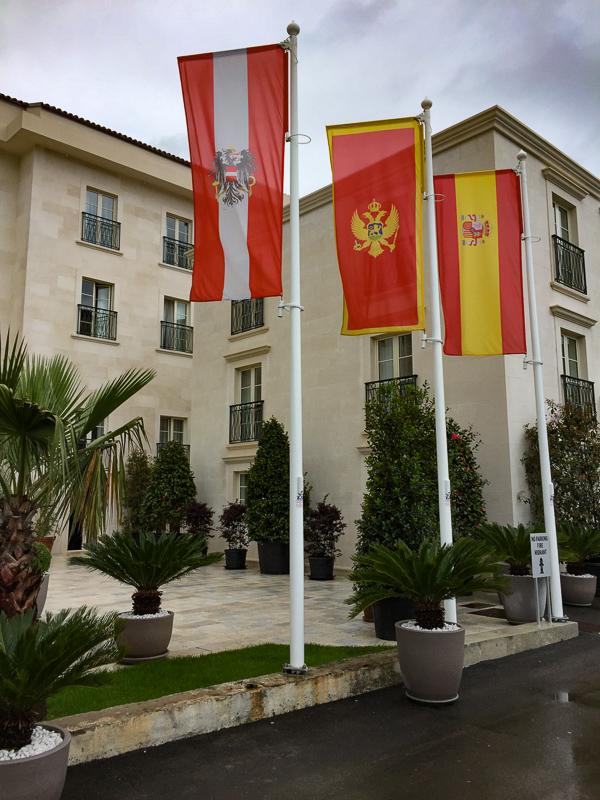 The main street in Perast, Montenegro