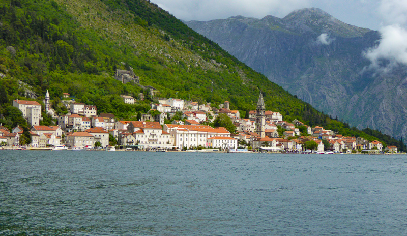 The town of Perast in Montenegro