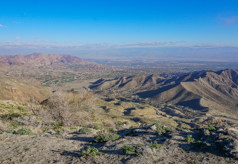 View from Coachella Valley Vista Point along Highway 74 in California