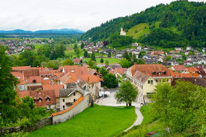 View from Skofja Loka Castle in Slovenia