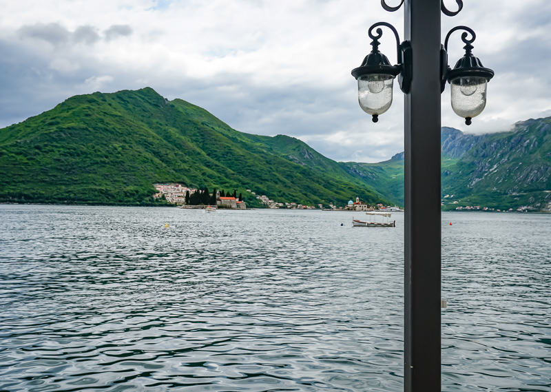 View from Waterfront Cafe Perast Montenegro