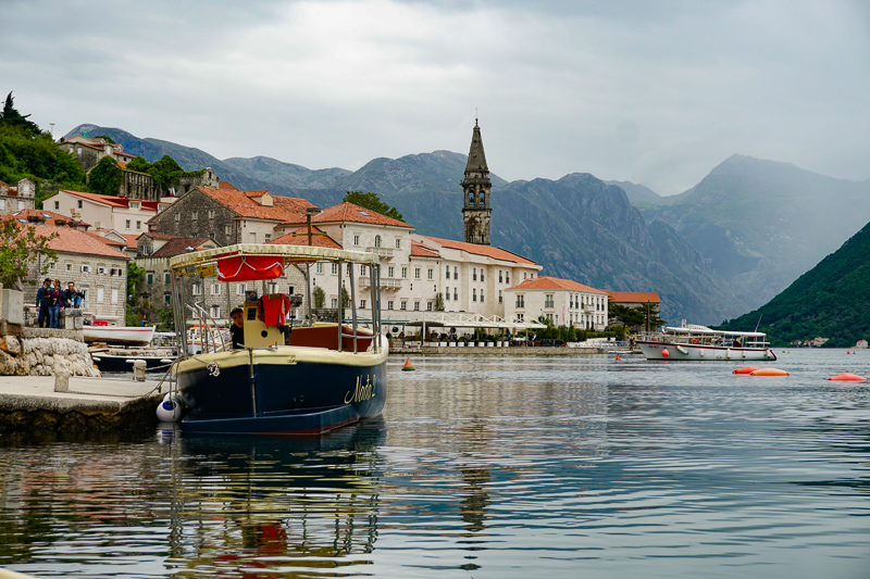 View from boat Perast Montenegro