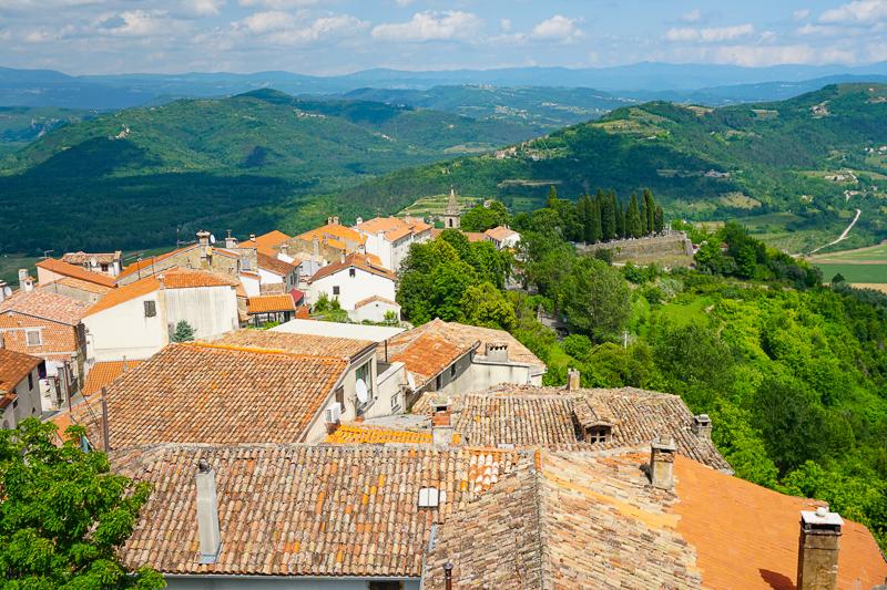 View from town walls Motovun Croatia