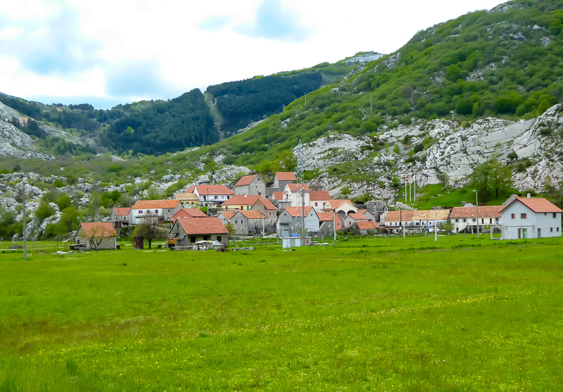Village of Njegusi in Montenegro
