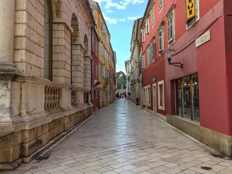 A street in Old Town Zadar Croatia
