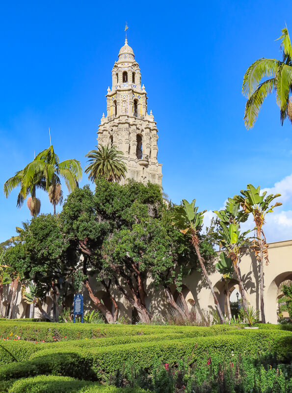 The Alcazar Garden in Balboa Park, san Diego, California, USA