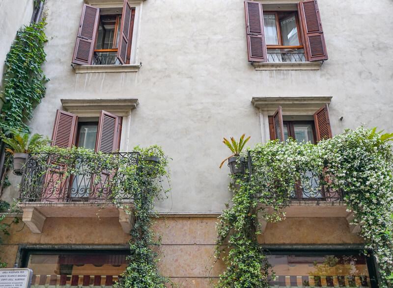 Balconies of Verona Italy